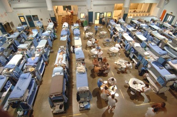 Overcrowding in a California Prison.  Image Source.