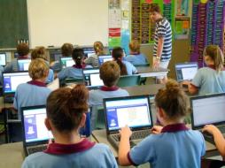 By giving each student his or her own computer, one-to-one programs often promote conformity and strip children of the ability to think for themselves. Image Source.